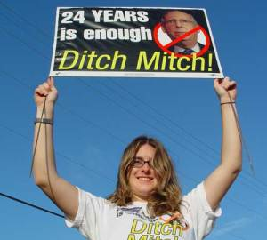 Ditch Mitch campaign poster.  Hillbilly Report.