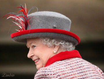 Her Majesty Queen Elizabeth II attends Christmas Services at Sandringham, Norfolk 2008. Image by Zimbio.