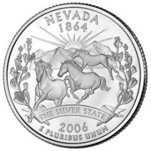 Nevada Quarter features Wild Horses