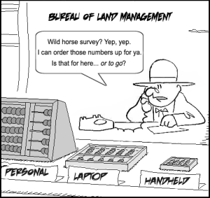 BLM Mustang Abacus Cartoon