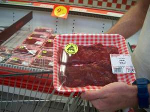 A Frenchman shopping for horse meat.