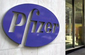 Pfizer Headquarters in New York (Photo by HENNY RAY ABRAMS/AFP/Getty Images)