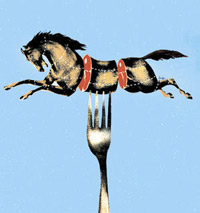 Horse on a Fork graphic