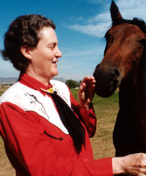 Temple Grandin and Horse. Photographer Unknown.