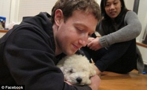 Mark Zuckergberg and his dog Beast