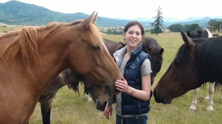 Alexandra Gritta and horses at the Duchess Sanctuary