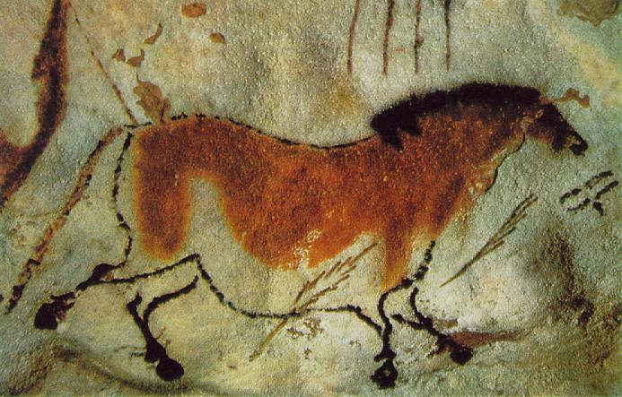 Cave Painting of a Horse. Click to Enlarge.