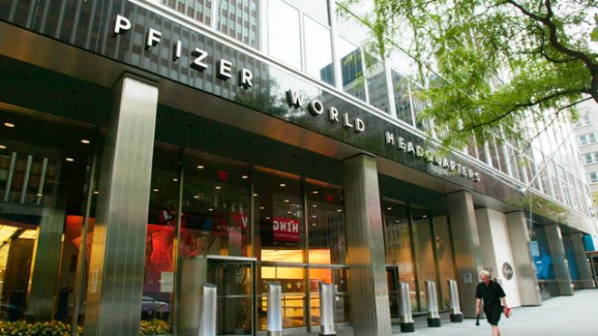 Pfizer World Headquarters. Reuters.