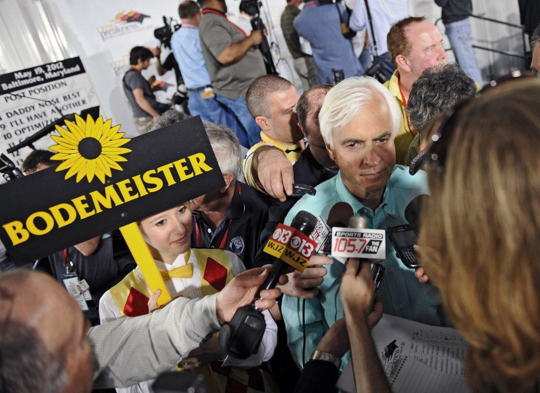 Bob Baffer trainer of Bodemeister. Kenneth K. Lam, Baltimore Sun.