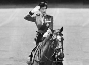 A young Queen Elizabeth II on Horseback