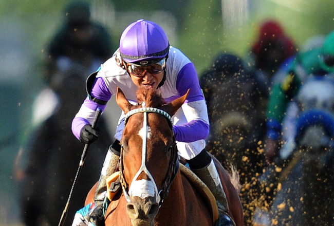 I'll Have Another winning the Preakness in 2012. Google image.