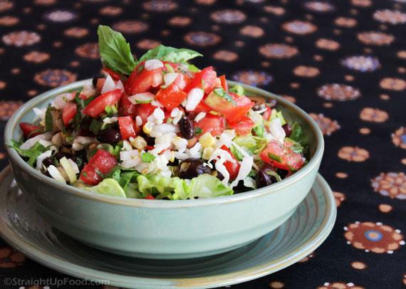 Burrito Bowl. Recipe and Image from StraightUpFood.com.