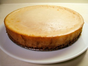 Classic Vegan Cheesecake. Image and recipe by VeganBaking.net.