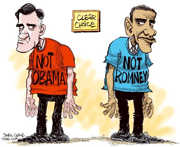 Not Obama Not Romney Cartoon by Daryl Cagle / MSNBC.