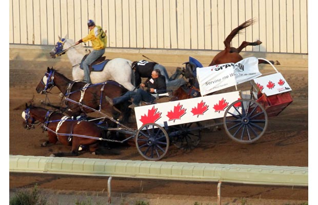Calgary Stampede Crash (Photo by Christina Ryan, Calgary Herald)