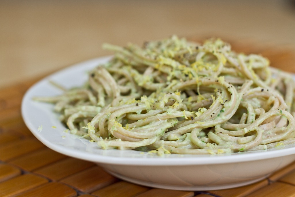 Avocado Pasta Recipes Creamy avocado pasta.