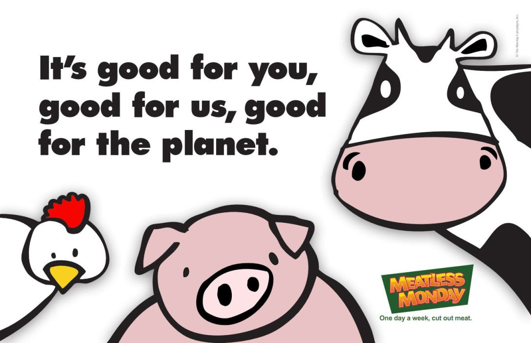Meatless Monday poster.