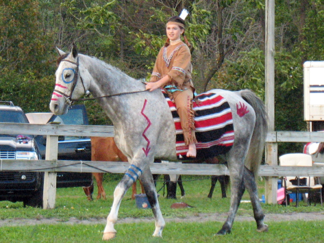 Kudos. This is a terrific way to dress your horse for Halloween says The Horse Fund.