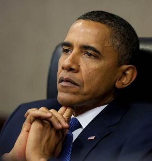 A pensive President Obama. Photo from The Blaze.
