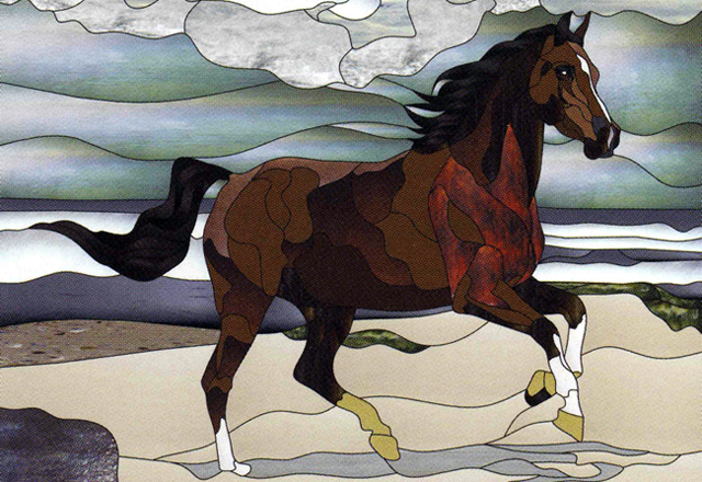 Stained Glass Horse. Google image.