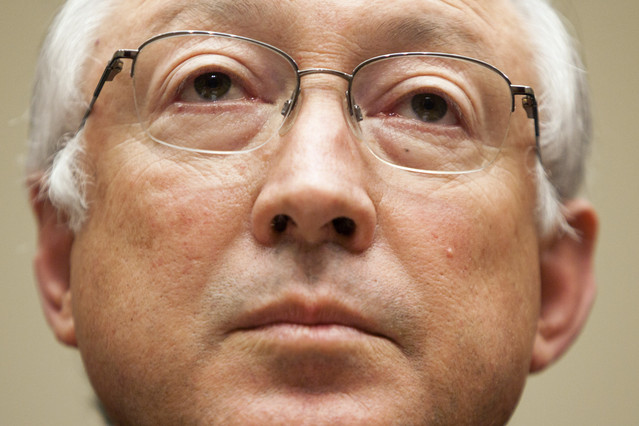 Interior Secretary Ken Salazar. Photo Brendan Hoffman/Bloomberg.