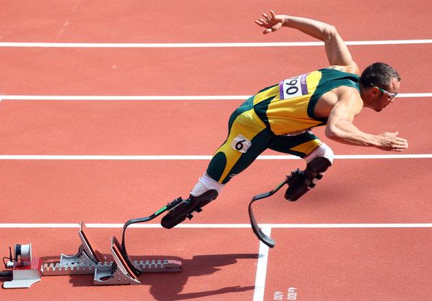 Oscar Pistorius. Image: Yahoo Sports.