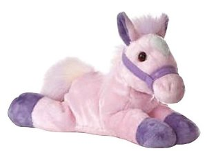 12 inch pink and purple plush pony by Aurora.