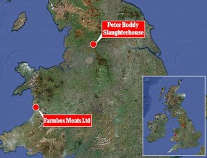 IMAGE CREDIT: The Daily Mail newspaper online. This graphic shows the location of where both raids took place.