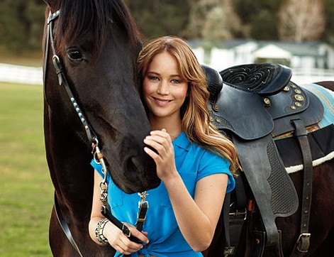 Oscar-winning actress has a passion for horses. Image from Horse Nation.