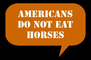 Americans Do Not Eat Horses Talk Balloon