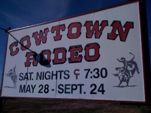 Cowtown Rodeo sign, New Jersey. Google Image.