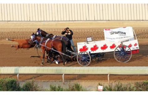 A photo of Chad Harden's crash during the Rangeland Derby in 2012. Photo credit: Christina Ryan, Calgary Herald