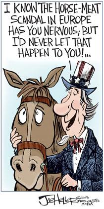 EU Horse Meat Scandal Cartoon