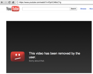 PHOTO: YOUTUBE Video removed by user.