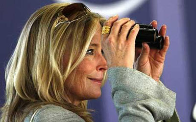 """Bo Derek, CHRB Commissioner and personal friend of trainer Bob Baffert. Many believe she and her Board looked past suspicious activities relating to the """"sudden deaths"""" of seven Thoroughbreds he was training at Santa Anita? Getty image."""