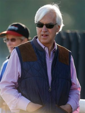 California Thoroughbred trainer Bob Baffert.  Baffert is a reported drugger of racehorses and suspected in the  sudden deaths of 7 racehorses from heart failure.  Mike Groll/AP.