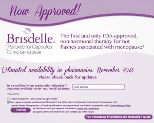 Brisdelle approved.