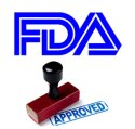 FDA approved rubber stamp.