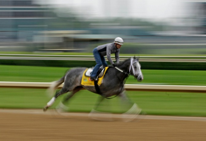 at Churchill Downs Wednesday, May 4, 2011, in Louisville, Ky. (AP Photo/Charlie Riedel)