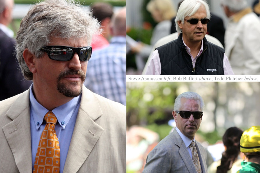 Asmussen Baffert and Pletcher
