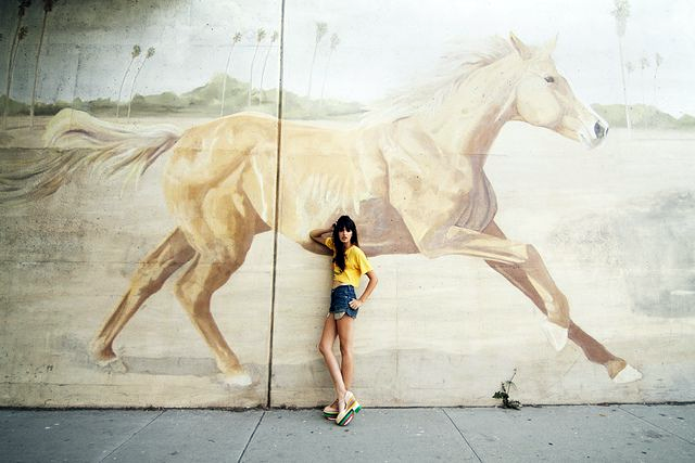 Horse Graffiti and Girl found on Pinterest
