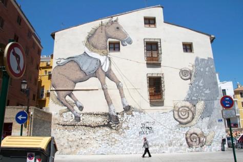 Horse Graffiti by Eric Ilcane, Valencia, Spain. Image by Ekosystem.
