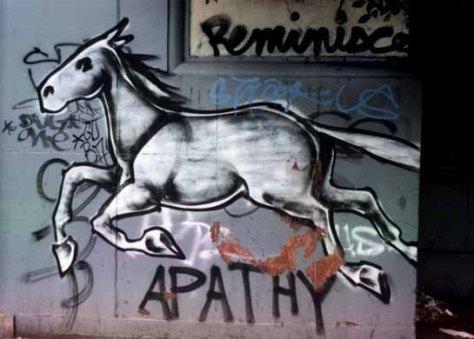 Horse graffiti Reminisce by Ruby Neri.