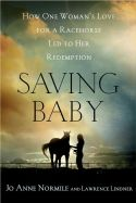 """Saving Baby"" by Jo Anne Normile book cover."