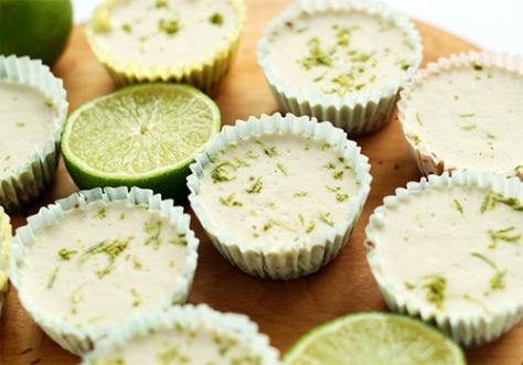 7 ingredient mini vegan key lime pies by Minimalist Baker.