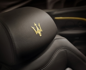Maserati uses fine Corinthian Leather in its GranCabrio with an interior designed by Fendi.