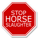 Horse Slaughter Stop Sign. Artwork by Vivian Grant Farrell. © The Horse Fund.