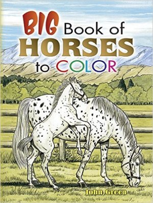 Remember the kids! How about this fab horse coloring book.