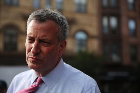 New York City Mayor Bill de Blasio. (Photo by Spencer Platt / Getty Images)
