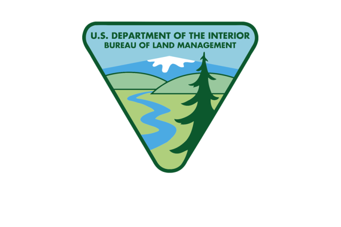 Department of the Interior's BLM Logo.